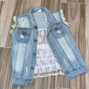 Other - Girls denim vest❤️